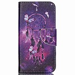 Cross Pattern Leather Wallet Case for Wiko Rainbow Jam 4G - Dream Catcher