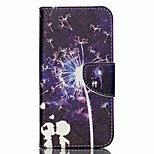 Cross Textured Leather Wallet Case for Acer Liquid Z530 Z530S - Lovers and Dandelion