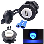 12V Motorcycle Automobile Console 2.1A USB Socket Car Charger