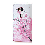 Plum Blossom Magnetic PU Leather wallet Flip Stand Case cover for Huawei Honor 5X