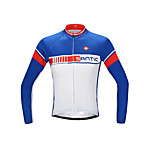 SANTIC Men's Cycling Jerseys Long Sleeve Bike Summer Breathable / Ultraviolet Resistant / Quick Dry / Limits Bacteria
