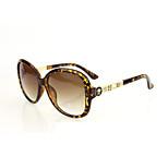 Sunglasses Women's Fashion Anti-UV / 100% UV400 Oversized Tortoiseshell Sunglasses Full-Rim