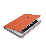 cuero de la PU del estilo del negocio de calidad superior con el caso elegante soporte para el ipad 2/3/4 (corlors surtidos)