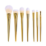 7pcs Set BlingBling Metallic Color Makeup Brushes Powder brush Blush Brush Eyeshadow Eyeliner Lip Brush Set