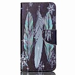 Feather and Snowflake Pattern Cross Textured Leather Case with Stand and Card Slot for Acer Liquid Z630 Z630S