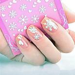3D Heart Snowflake Pattern Nail Stickers