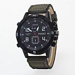 Reloj Mujer Fashion Casual Men's Wristwatch False Two Chorographs Dial Quartz Outdoor Sport  Wristwatch Men Leather