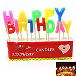 Happy Birthday English Letter Style Candle