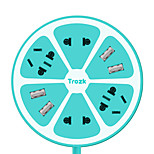 Trozk Multifunction Charging Power Strip 4 Outlet 4 USB Charger Hub Intelligent Socket Line Board Green Yellow Pink Blue