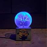 Magic Glass Plasma Ball Sphere Animated Cartoon Electronic Magic Ball Creative Crafts Ornaments Birthday Gift for Kids