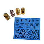 10pcs Black New Nails Art  Water Transfer Sticker  Manicure Nail Art Tips  STZV031-040
