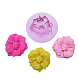 One Hole Flower With Bud Silicone Mold Fondant Molds Sugar Craft Tools Resin flowers Mould Molds For Cakes