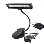 Clip-On Flexible USB 9 LED Music Light Book Reading Stand Lamp Camping lamp