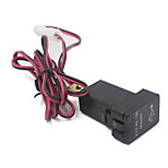 12-24V Motorcycle Automobile Dual USB Car Charger Station for Toyota