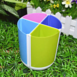 1PC Combined Rotary Brush Pot Business Office Color Brush Pot(Style random)