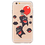 Happy animals Pattern TPU Relief Back Cover Case for iPhone 6/iPhone 6S