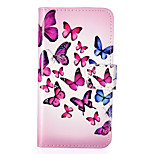 Butterfly Pattern Embossed PU Leather Case for iPod Touch5