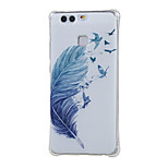 Blue feather Shockproof as TPU soft shell cover Case for Huawei Ascend P9