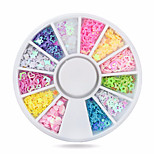 1whee sequins nail decorations-Bijoux pour ongles-Doigt- enAdorable-6cm wheel