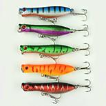 5pcs 60mm 5g Fishing Bait Floating Minnow Lure Random Colors