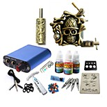 Tattoo Kit JH569 1 Machine With Power Supply Grips 3x10ML Ink