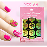 New Nail Art Hollow Stickers Colorful Flower Star Geometric Image  Design  Nail Art Beauty Y021-030