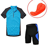 KORAMAN Summer Men's Cycling Suit Short Sleeve Jersey and 3d Padded 3/4 Tights Lycra Breathable Quick-dry