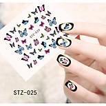 1pcs  Water Transfer Nail Art Stickers Flower Cat Leopard Butterfly Nail Art Design STZ21-25