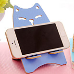 Cat Pattern Wooden Holder for iPhone and Samsung(Random Color 1PCS)
