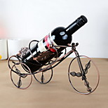 Maple Leaf Tricycle Design Vintage Pure Iron Wine Rack