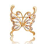 18k de color broche de oro cristal de la moda