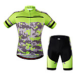 WOSAWE Summer Quick-Dry GEL Pad Mountain Bike Bib Shorts + Cycling Jerseys Ciclismo Breathable Bicycle Clothing Cycling