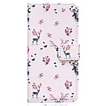 Flower Deer Pattern Embossed PU Leather Case for iPhone 6/ iPhone 6S
