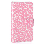 modello di amore in rilievo PU Custodia in pelle per iPhone 5 / iphone 5s / iphone SE