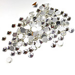 1000pcs/pack SS3 SS4 SS5 Crystal Nail Art Rhinestones Clear Top Quality Flatback Non Hotfix Nail Jewelry Decoration