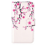 Plum Flower Pattern Embossed PU Leather Case for iPod Touch5