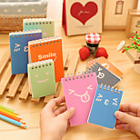 1PC Carry A Notebook Everywhere Expression Student Diary Notebook(Style random)