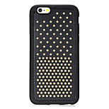 Rivet Leather Series Golden Round-Dots Soft TPU Case for Iphone6Plus/6SPlus 5.5