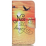 Cross Pattern Leather Wallet Stand Case Cover for Acer Liquid Jade Z - Never Stop Dreaming