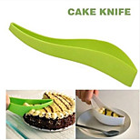Practical Cake Cutter Tools Cake Pie Slicer Sheet Guide Cutter Cake knife Cut One-Piece Kitchen Gadget Random Color