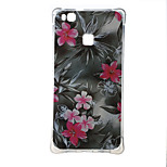 Red Flower Shockproof as TPU soft shell cover Case for Huawei Ascend P9 lite P9 mini