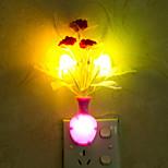 Lovely Vase Color-changing Smart Light Controlled Emergency LED Night Light for Kids Room Home Decoration(Random Color)