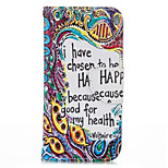 Totem Letter PU leather with Stand Case for iPhone5S/SE 4.0