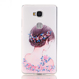 Flower Fairy Pattern Soft TPU Back Cover Case for Huawei Honor 5X