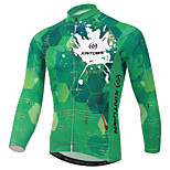 XINTOWN Green British Style Bike Team Cycling Suits Long Jersey Long Sleeve