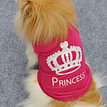 Noble Comfortable Crown Pattern Words Pet T-shirt