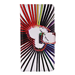 Pencil Love Pattern PU Leather Full Body Case with Stand and Card Slot for iPhone 6/6S