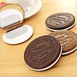 NIP Chocolate Cookie Mirror Compact Comb Cute Lady Accessory Fun Creative Design Random Color