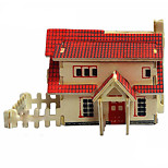 Western-Style House Wood 3D Puzzles Diy Toys