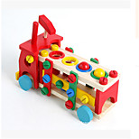 Wooden Car Assembly Disassembly  Nut Combination Toy Multifunctional Playing Table